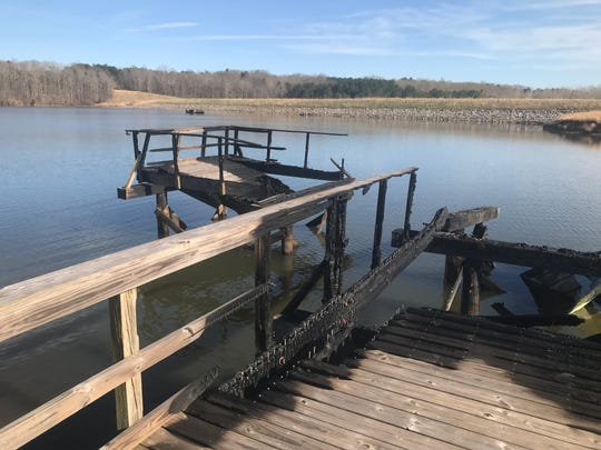 The Tennessee Wildlife Resources Agency is investigating the cause of a fire that destroyed the Lake Graham fishing pier Sunday night.