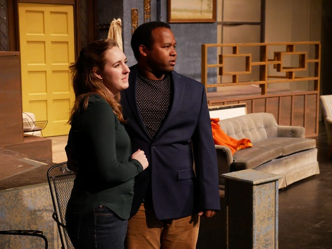 """Actors rehearse for """"Guess Who's Coming to Dinner"""" at The Ned this week  with performances happening next weekend."""