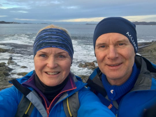 Red Cross volunteer Bente Flem and her boyfriend,  Ole Jan Tønnesen took this photo walking one day near the area of the Hustadvika Bay, where they would find the Viking Sky cruise ship stranded, Saturday, March 23, 2019.