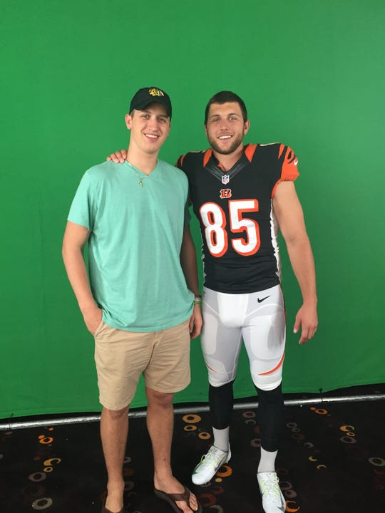 Grady Eifert (left) poses with big brother Tyler Eifert (right).