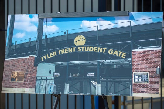The entrance to the student section at Ross-Ade Stadium will be known as the Tyler Trent Student Gate