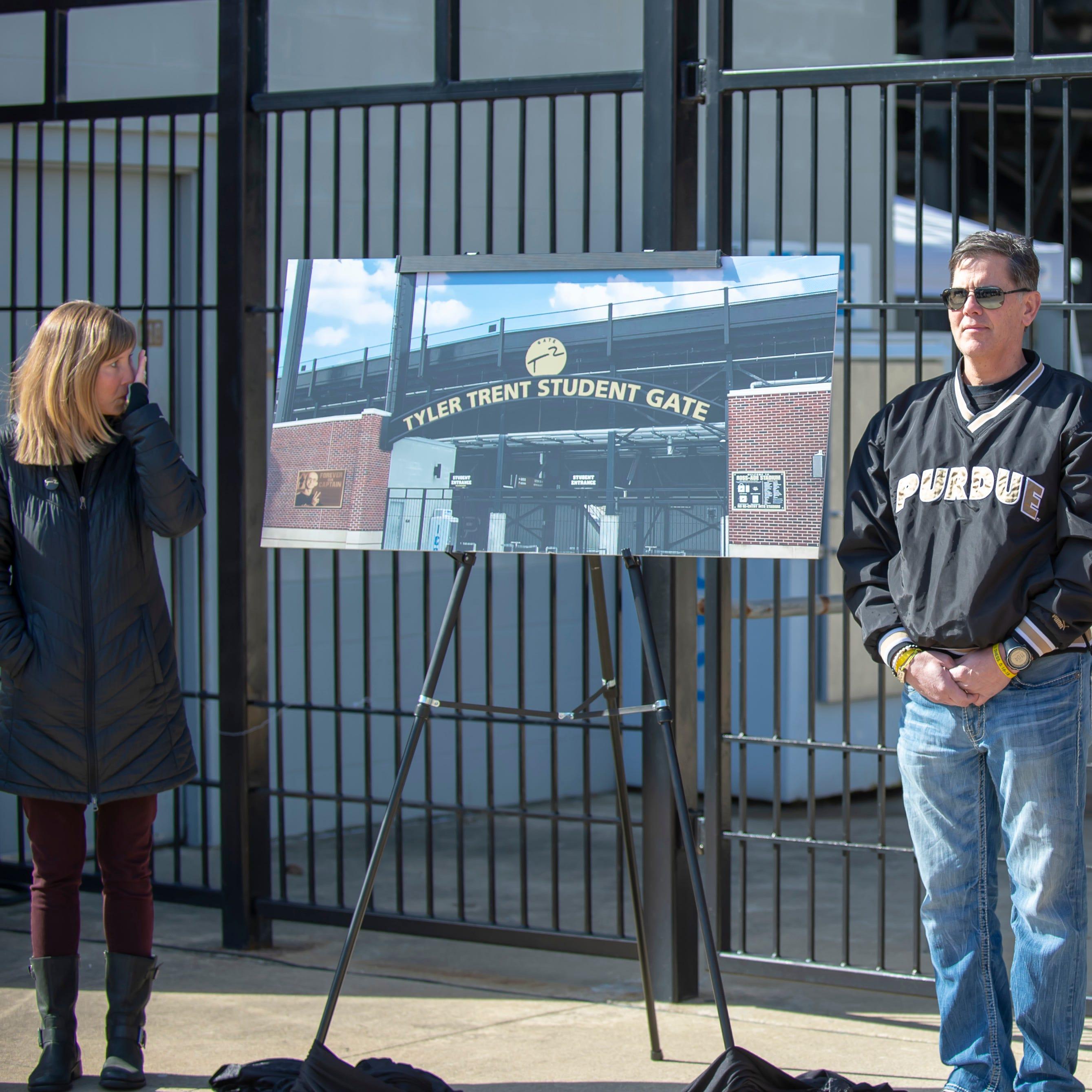 'This is Tyler': Purdue names Ross-Ade Stadium gate for Tyler Trent