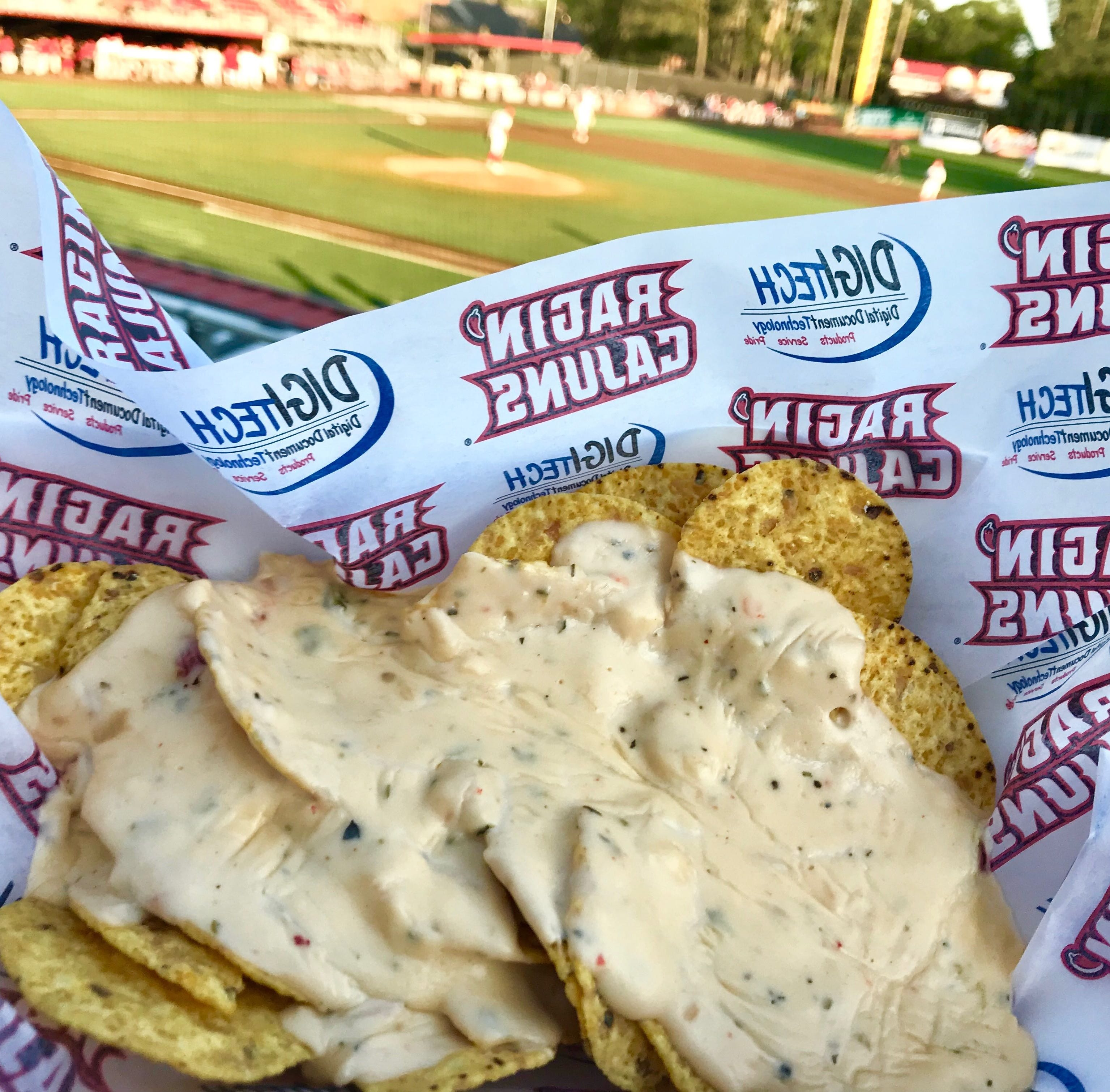 What are the food, drink options at a Ragin' Cajuns baseball game?