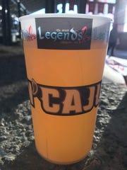 Rajin' Cajuns' Genuine Louisiana Ale is sold at Louisiana Lafayette baseball games.