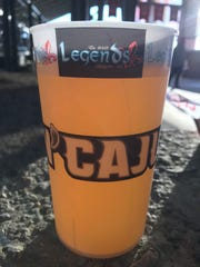 Rajin' Cajuns' Genuine Louisiana Ale is sold at Louisiana Lafayette baseball games.