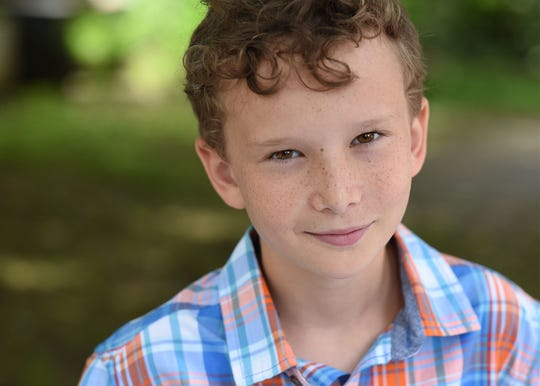 "Luke Loveless, 13, a child actor in ""The Highwaymen"" starring Kevin Costner that premieres on Netflix on March 29, 2019."