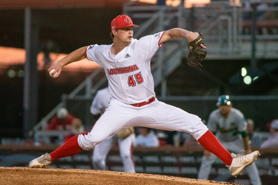 UL's Jack Burk throws against Tulane in a start earlier this season.