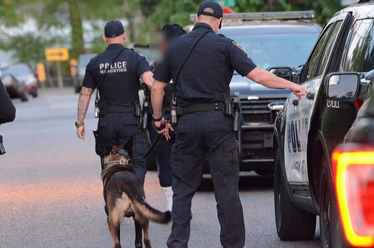 Members of Lafayette police's Tactical Narcotics Team executed warrants on drug-related charges on Monday, leading to multiple arrests.