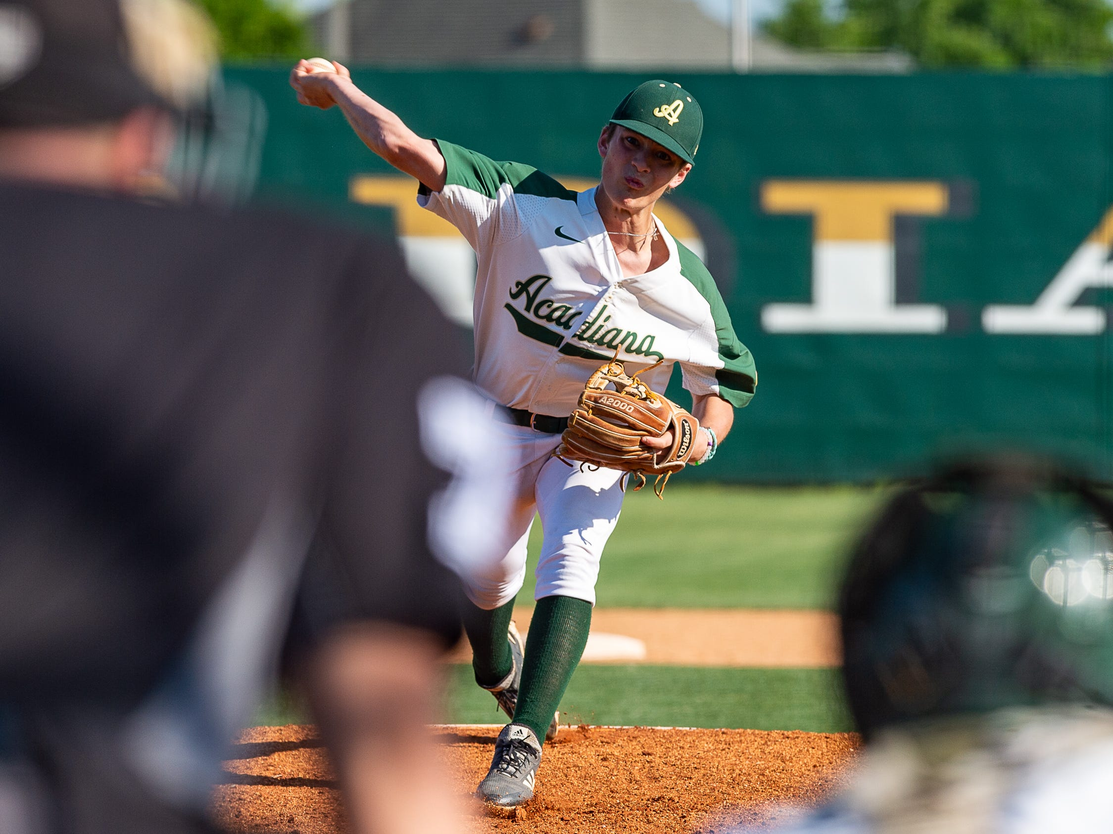 Rams pitcher Landon Guidry on the mound as Acadiana takes on Sam Houston baseball. Tuesday, March 26, 2019.