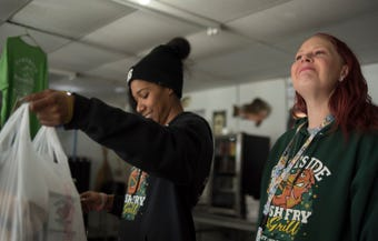Erikka Saybay said she couldn't ask for a better workplace environment than Eastside Fish Fry.  Saybay is one of at least three Eastside managers with felonies.