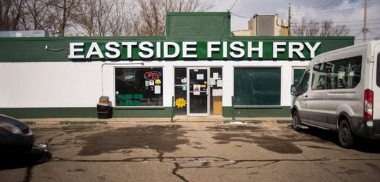 Lansing's Eastside Fish Fry & Grill is located at 2417 E. Kalamazoo St. It occupies a building that was once Eastside Market and also a Sir Pizza restaurant.