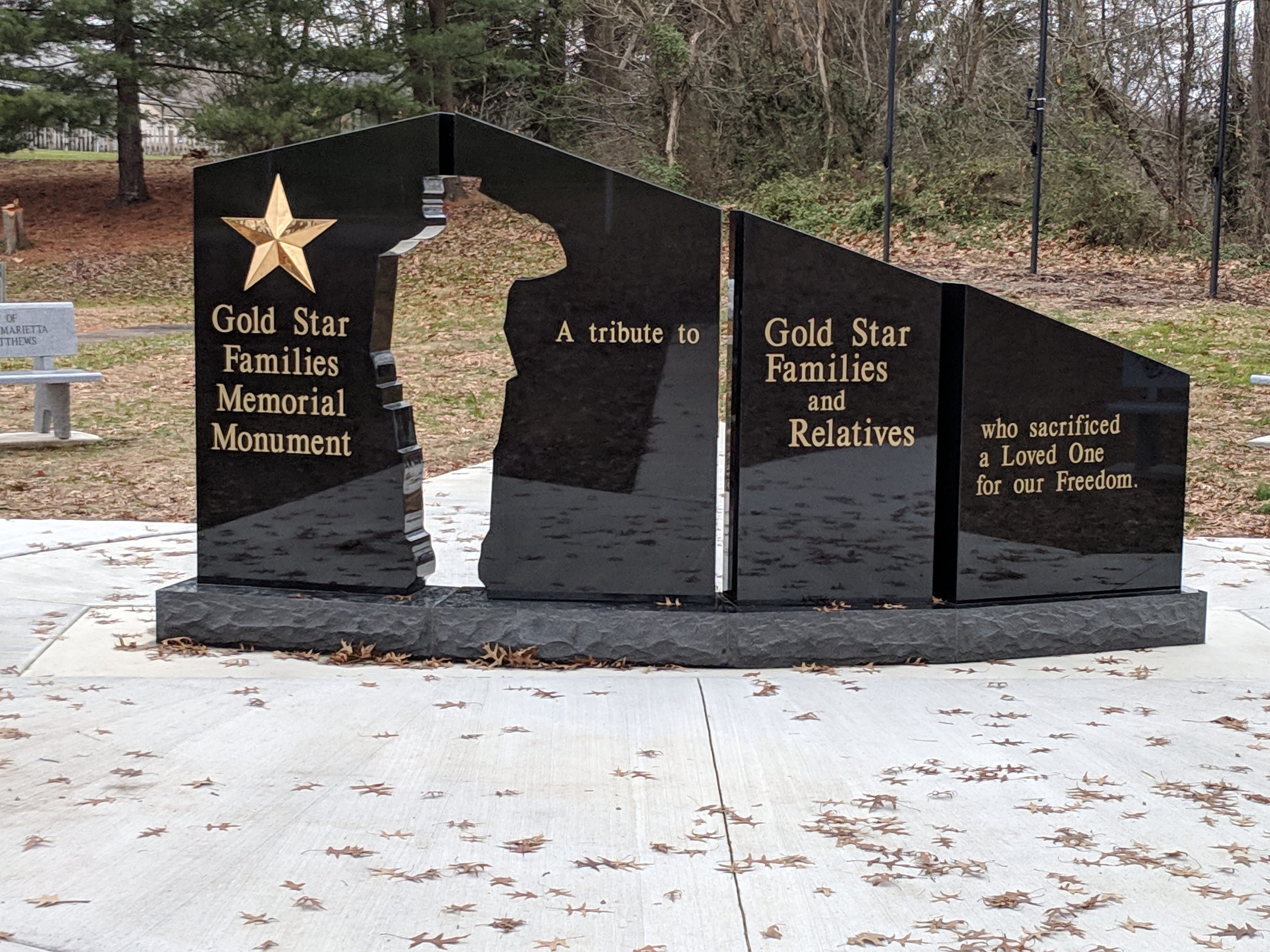 This Gold Star Monument is proposed for the Richland County Courthouse lawn. Organizers are raising money to purchase the monument.