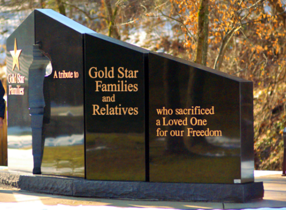 This is the two-sided Gold star Monument proposed for the Richland County County Courthouse lawn.