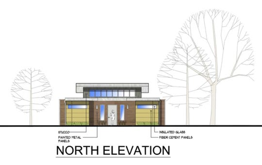 A rendering shows how OUTMemphis' new youth emergency shelter could look after its completion.