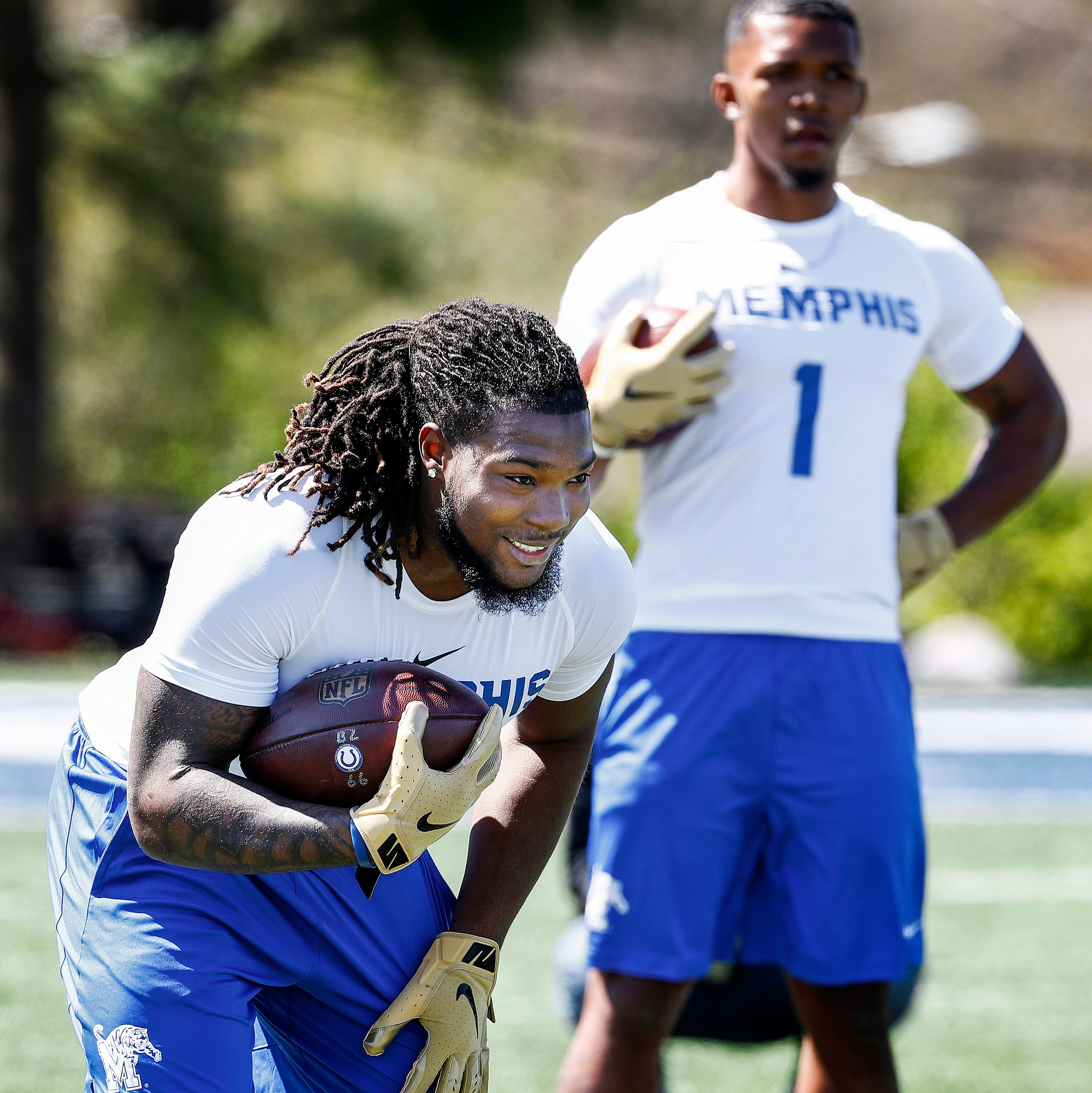 Darrell Henderson, Tony Pollard embrace last showcase at Memphis Pro Day