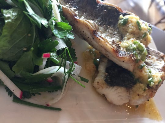 Grilled mackerel with fennel herb salad at Young Joni in Minneapolis. The restaurant's chef, Anna Kim, is one of the finalists for the James Beard Awards' best chef: Midwest.