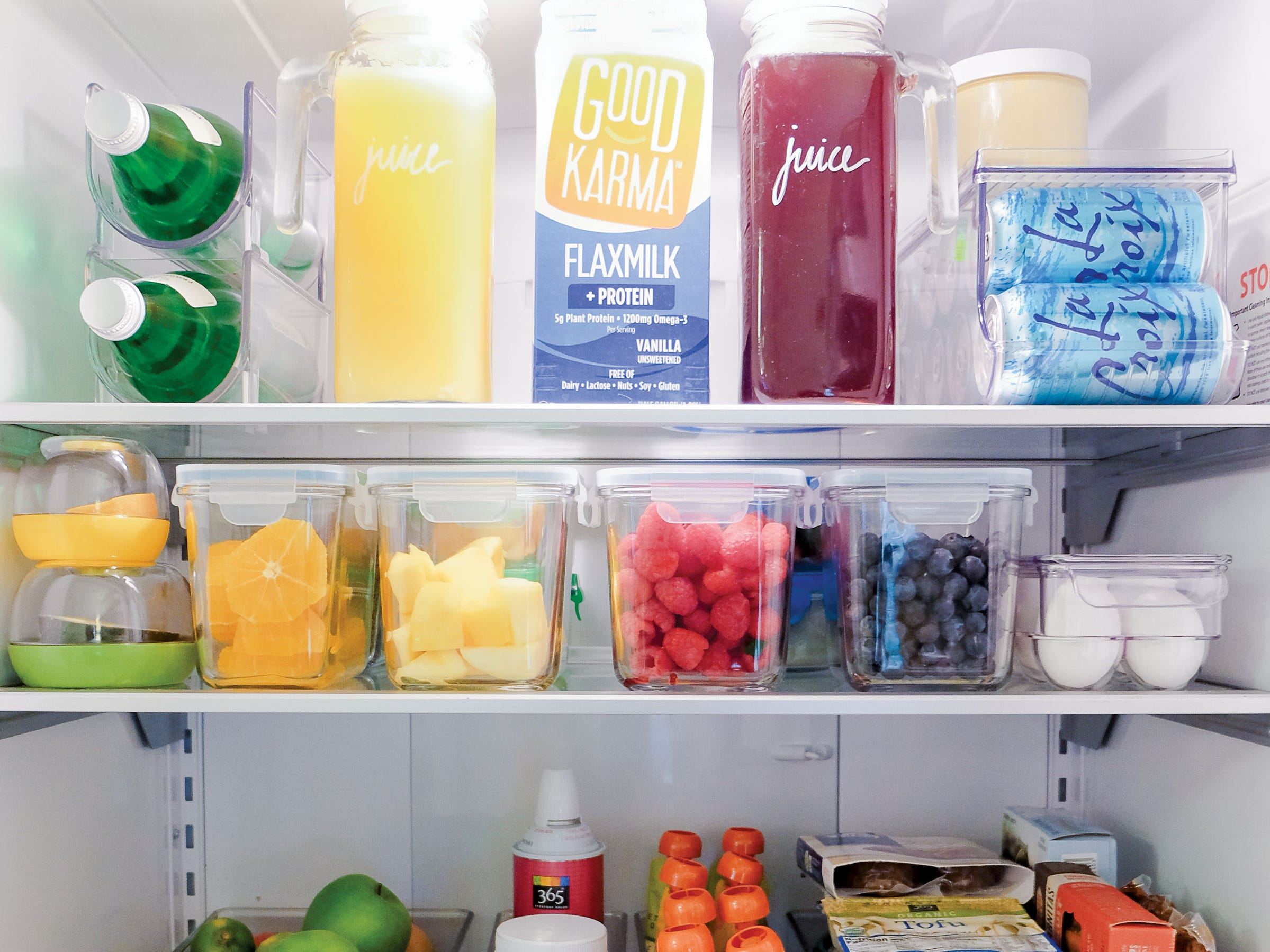 """This idea of a smartly-organized, healthy refrigerator is from the book """"The Home Edit."""""""