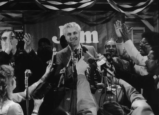 State Sen.  Jim Moody, D-Milwaukee, was the center of attention during his victory party at Turner Hall. Moody defeated state Sen. Rod Johnston (R-Glendale) in the 1982 election to represent the 5th Congressional District.