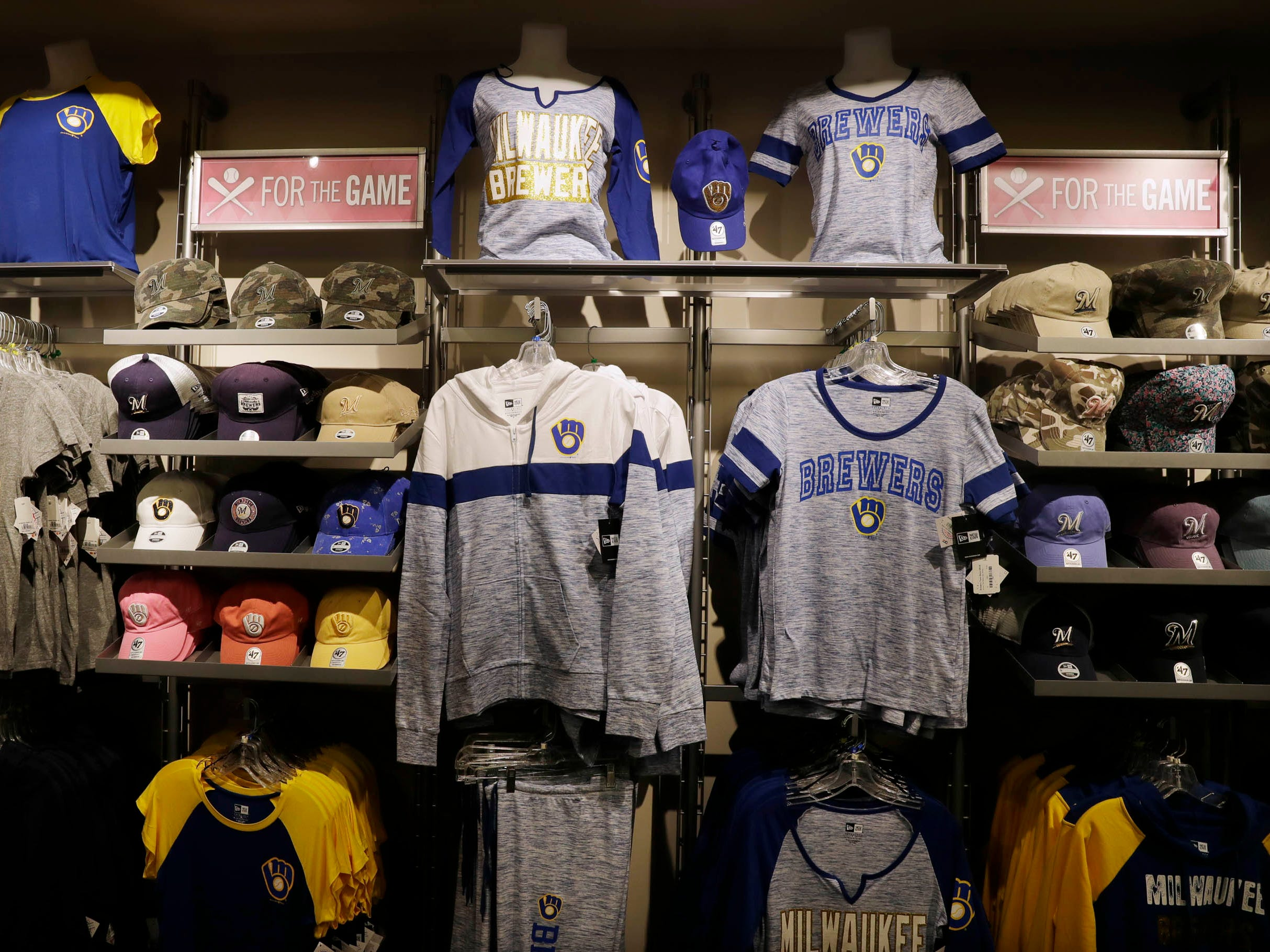 Women's apparel is changing too, with new vendors and trendy looks, at the Milwaukee Brewers team store at Miller Park.