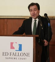Ed Fallone campaigning in 2013
