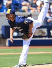 Jhoulys Chacin will start the Brewers' opener Thursday.