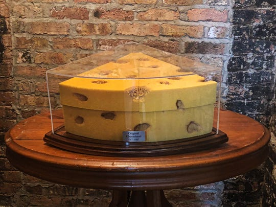 The original Cheesehead was made to wear to a Brewers game in 1987. Today it can be found at Foamation Inc. in Milwaukee's Walker's Point.