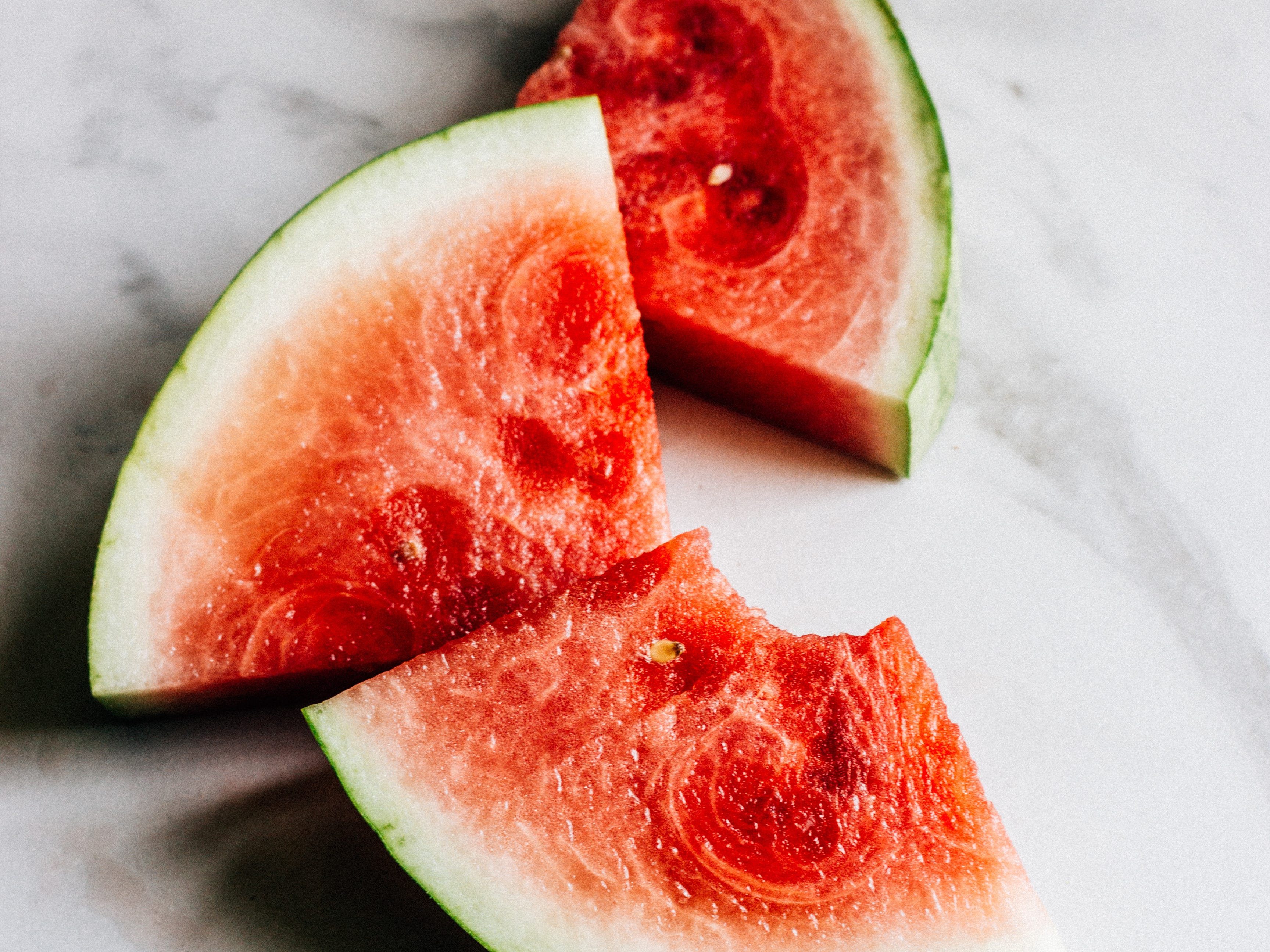 Once produce, like watermelon, is cut, it needs to be refrigerated.