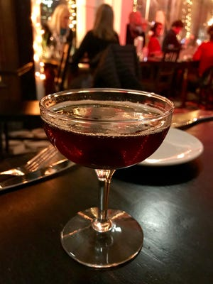A Blade in the Dark, on the spring cocktail list at Strange Town, 2101 N. Prospect Ave., is a spin on the classic Boulevardier. It's made with Rittenhouse rye, Lacuesta rojo vermouth and Zucca Rabarbaro, an amaro that includes rhubarb as one of its botanical ingredients ($13).