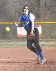 Cotter's Abigail Ewing pitches against Decatur on Tuesday.