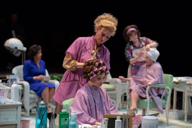 "A scene from ASF's production of ""Steel Magnolias,"" which runs through May 5 on ASF's Octagon Stage."
