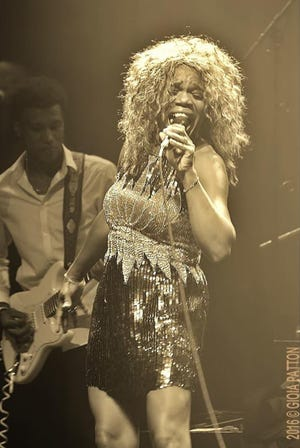 """Sheryl Rouse performs as Tina Turner in  """"What's Love Got To Do With It - A Musical Tribute to Tina Turner"""" that's coming to the Davis Theatre in Montgomery on Saturday."""