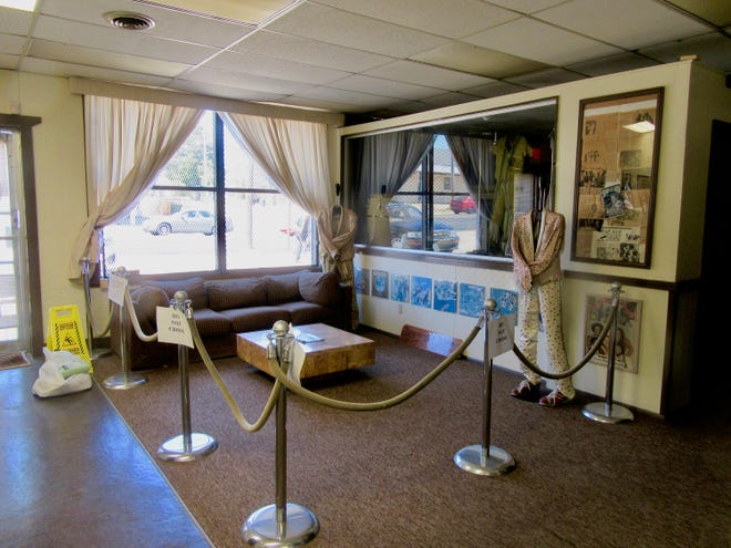 The front room of the Commodore Museum in Tuskegee.