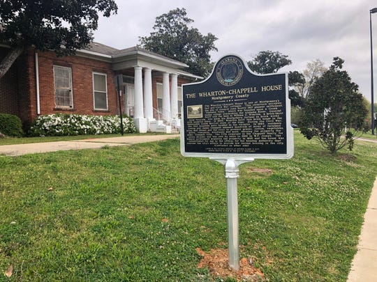A new historical marker along Maxwell Boulevard recognizes the historical significance of the Wharton-Chappell House.