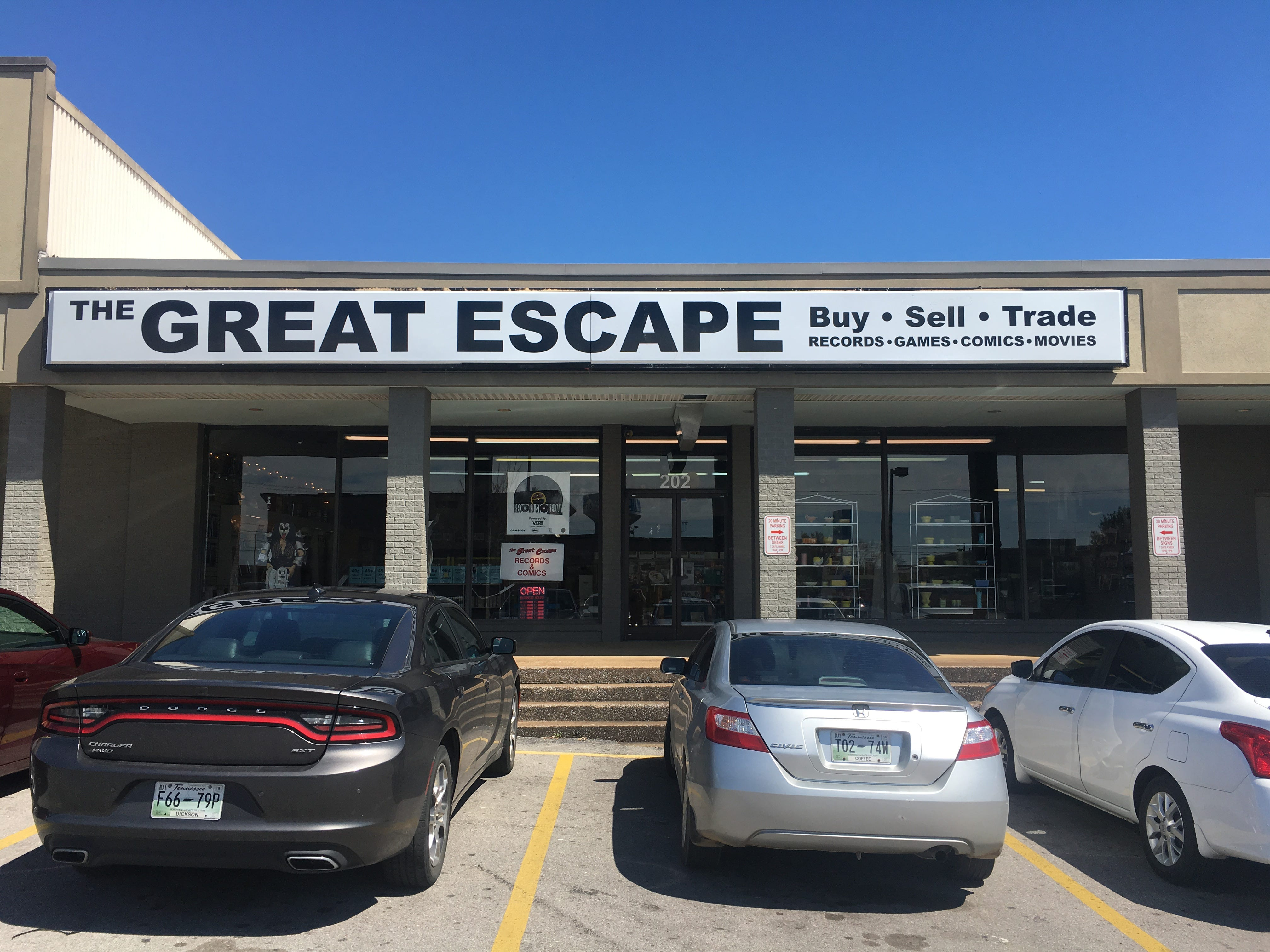 The Great Escape used media store opened its sixth location in Murfreesboro at Jackson Heights Plaza.
