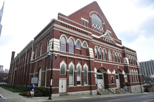 The historic Ryman Auditorium is a must-see attraction in downtown Nashville.