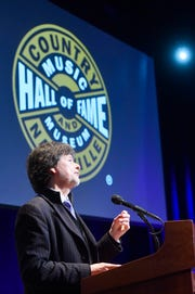 """Ken Burns announced he will be donating all of the interview footage and transcripts from the """"Country Music"""" documentary to the Country Music Hall of Fame at a press conference Wednesday, March 27, 2019, at the museum's Ford Theater,"""