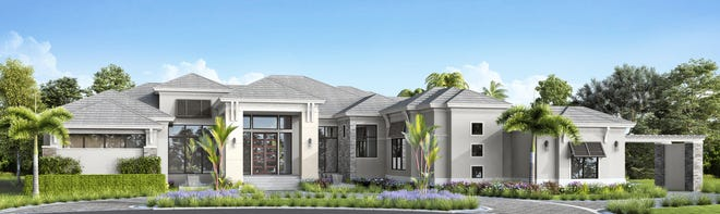 The Fontaine model is one of three under construction in Quail West.