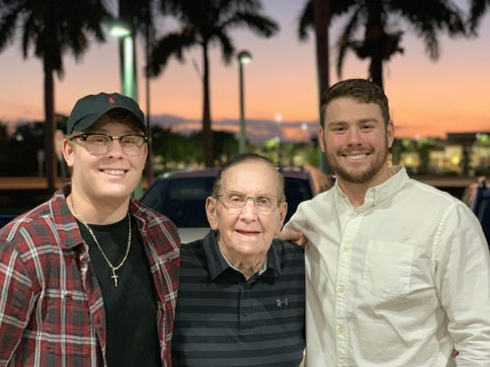 Norm Kaye poses with his grandsons Griffin, left, and Cameron in a recent photo.