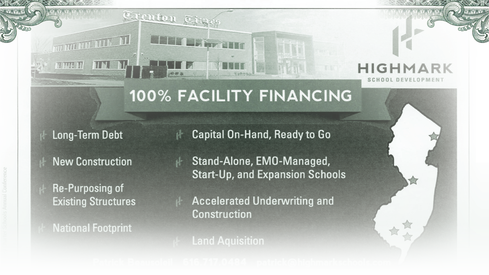 An advertisement in a New Jersey Charter Schools Conference program from 2017.