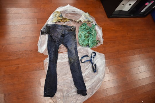 Fair Lawn police are asking people if they can identify the pile of clothing found behind a home on 11th Street.