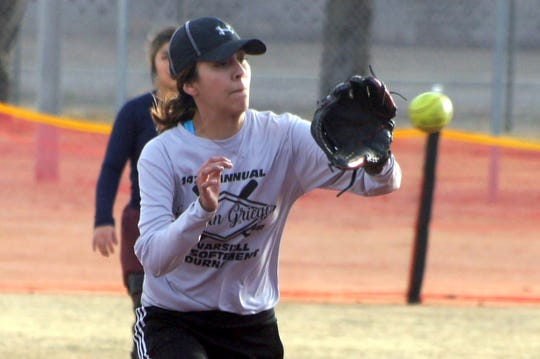 Sophomore Janae Jasso was one of five Lady 'Cats to get a hit in a 15-5 loss at Las Cruces.