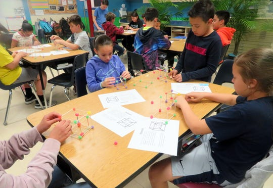 Bataan Elementary fifth-grade students were tasked with constructing their own tesseracts with gumdrops and toothpicks.