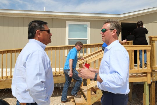 Carlsbad Councilman Eddie Rodriguez speaks with Joseph Pearson, DEO of XStremeMD March 27.
