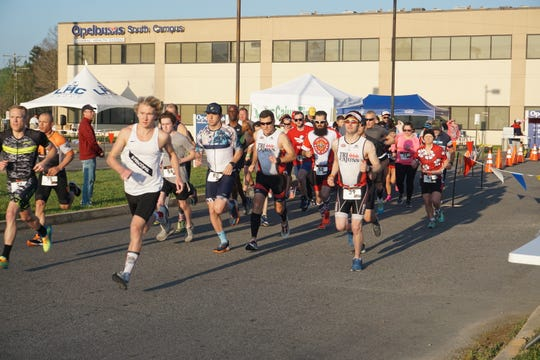 They were off and running in the annual Duathlon sponsored by the Opelousas Rotary Club. 45 participants took part in the event held Sunday, March 24.