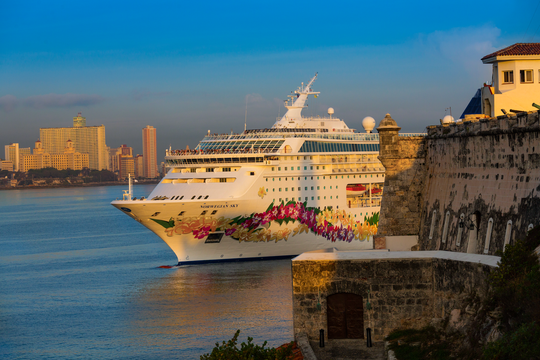 One of the Norwegian Cruise Line ships sailing to Cuba