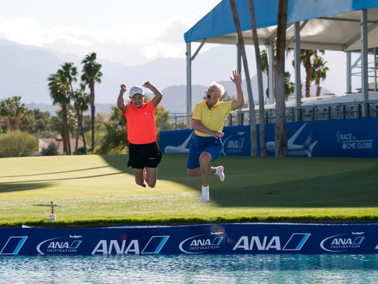Taking the leap at last year's ANA Junior Inspiration tournament.