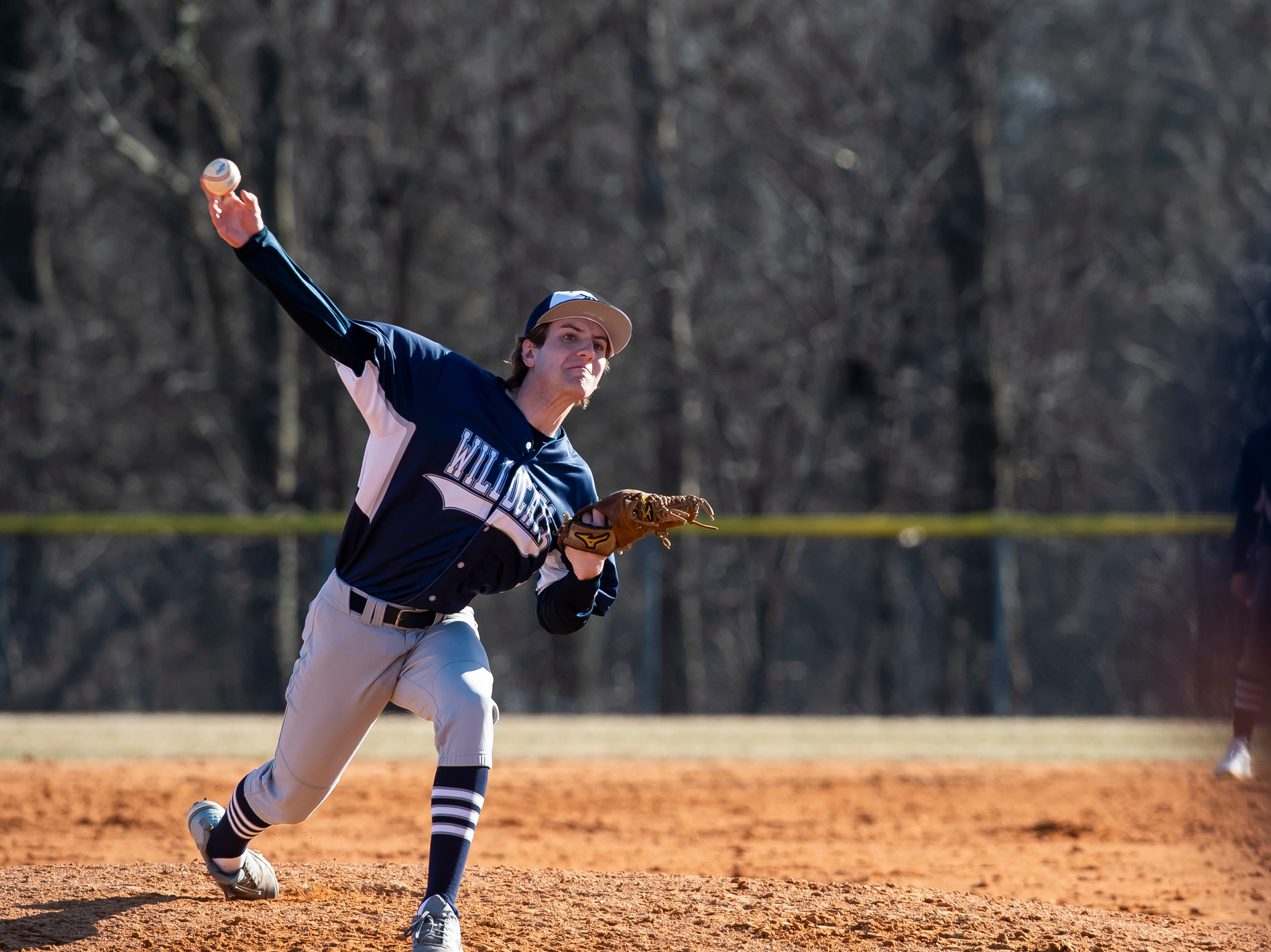 Dallastown's Morgan Smith pitches to Gettysburg during a YAIAA baseball game on Wednesday, March 27, 2019.