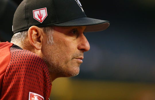 Diamondbacks manager Torey Lovullo looks on during a spring training game against the White Sox on March 25.