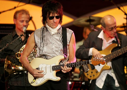 Jeff Beck performs onstage at the MusiCares 2005 Person of the Year Tribute to Brian Wilson at the Palladium on February 11, 2005 in Hollywood, California.