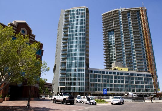 The unfinished Centerpoint project near downtown Tempe, shown in July 2008.